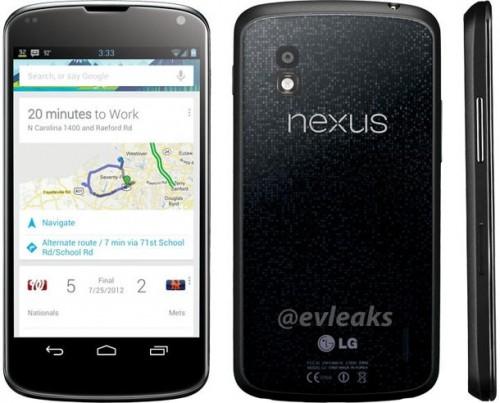 Новое и, вероятно, официальное изображение LG Nexus 4